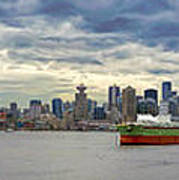 Port Of Vancouver Bc Panorama Poster