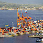 Port Of Vancouver Panorama Poster