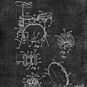 Portable Drum Set Patent 037 Poster