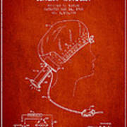 Portable Hair Dryer Patent From 1968 - Red Poster