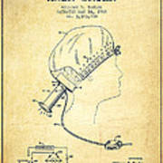Portable Hair Dryer Patent From 1968 - Vintage Poster
