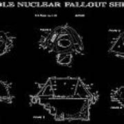 Portable Nuclear Fallout Shelters 2 Patent Art 1986 Poster