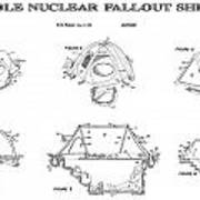 Portable Nuclear Fallout Shelters 4 Patent Art 1986 Poster