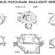 Portable Nuclear Fallout Shelters3  Patent Art 1986 Poster
