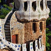 Porter's Lodge Pavilion In Park Guell Poster
