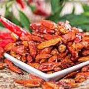 Portion Of Dried Chillies Poster
