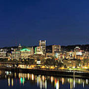 Portland Downtown Skyline At Blue Hour Poster