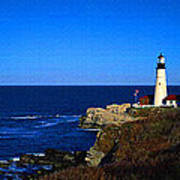 Portland Head Light Panoramic View Poster