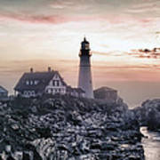 Portland Head Light Summer Sunrise Poster
