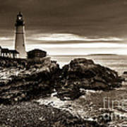 Portland Head Lighthouse Sunrise Poster