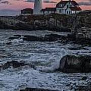 Portland Head Lighthouse Sunset Poster