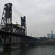 Portland Oregon Steel Bridge Poster