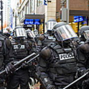 Portland Police In Riot Gear Poster