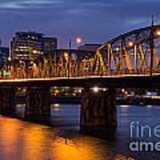 Portland Skyline And Hawthorne Bridge Poster