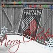 Portland Trailblazers Poster by Joe Hamilton