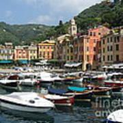 Portofino Port Entrance Poster