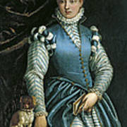 Portrait Of A Woman With A Dog Poster