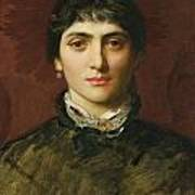 Portrait Of A Woman With Dark Hair Poster