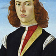 Portrait Of A Young Man Ghirlandaio Poster