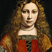 Portrait Of A Youth Crowned With Flowers Poster by Giovanni Antonio Boltraffio