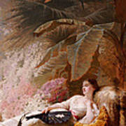 Portrait Of Adelaide Maria Guiness Reclining On A Sofa In A Conservatory Poster
