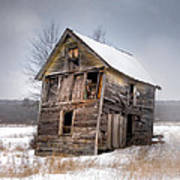 Portrait Of An Old Shack - Agriculural Buildings And Barns Poster