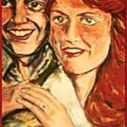 Portrait Of Andrew And Sarah Poster