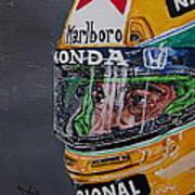 Portrait Of Ayrton Senna Poster
