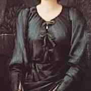Portrait Of Baronne Madeleine Deslanders Poster by Edward Burne-Jones