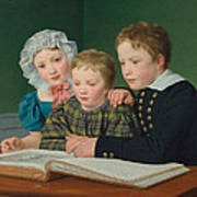 Portrait Of C F Holms Children Poster