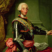 Portrait Of Charles IIi 1716-88 C.1761 Oil On Canvas Poster