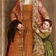 Portrait Of Countess Livia Da Porto Thiene And Her Daughter Deidamia Poster