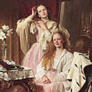 Portrait Of Emma And Frederica Bankes Poster