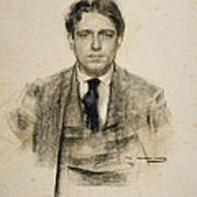 Portrait Of Eugeni D'ors Poster