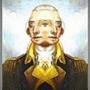 Portrait-of-george Washington Vert  2  Poster