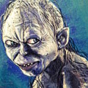 Portrait Of Gollum Poster