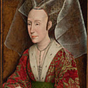 Portrait Of Isabella Of Portugal  Poster by Workshop of Rogier van der Weyden