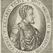 Portrait Of King Philip II Of Spain, Frans Huys Poster