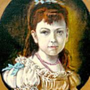 Portrait Of Little Girl Poster