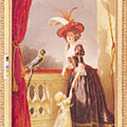 Portrait Of Louise-elisabeth De France 1727-59 Duchess Of Parma And Her Son Ferdinand 1751-1802 Poster