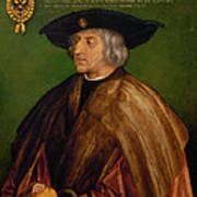 Portrait Of Maximilian I Poster