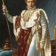 Portrait Of Napoleon In Coronation Robes Poster