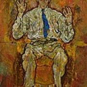 Portrait Of Paris Von Gutersloh Poster by Egon Schiele