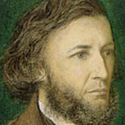Portrait Of Robert Browning Poster