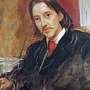 Portrait Of Robert Louis Stevenson 1850-1894 1886 Oil On Canvas Poster