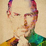 Portrait Of Steve Jobs Poster