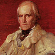 Portrait Of Stratford Canning 1786-1880, Viscount Stratford De Redcliffe 1856-7 Oil On Canvas Poster