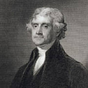 Portrait Of Thomas Jefferson Poster by Henry Bryan Hall