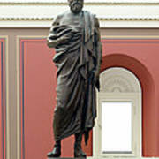 Portrait Statue Of Plato By John Joseph Poster