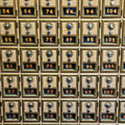 Post Office Combination Lock Boxes Poster